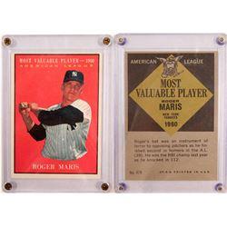 1961 TOPPS MVP Roger Maris Card  (104085)