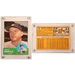 1963 TOPPS Mickey Mantle Card  (104084)