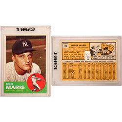1963 TOPPS Roger Maris Card  (104086)