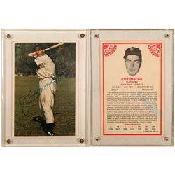 1982 TOPPS Oversized Signed Joe DiMaggio Card  (104089)