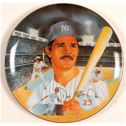 1987 Don Mattingly Signed Collector Plate  (104092)