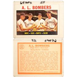 A.L. Bombers (Roger Maris/Norm Cash/Mickey Mantle/Al Kaline) Card  (104088)