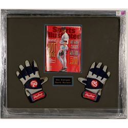 Alex Rodriguez Gloves w/ Sports Illustrated Magazine  (100570)
