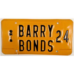 Barry Bonds License Plate  (104101)