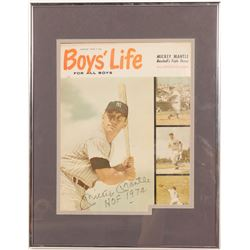 Boys' Life Signed Mickey Mantle inscription HOF 1974  (104552)