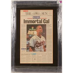 Cal Ripken Jr. Front Page news of The Sun Newspaper   (100571)
