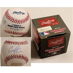 Carlos Correa Signed ROY Rawlings Baseball  (100296)