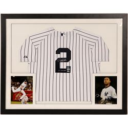 Derek Jeter Authentic Pinstripe Jersey Signed  (104566)