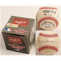 Duke Snider autographed baseball  (100298)