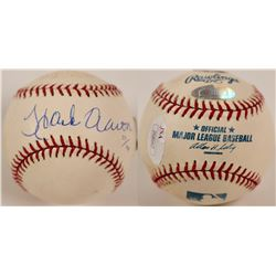 Hank Aaron autographed and inscribed baseball 27/144  (100301)