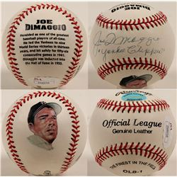 "Joe DiMaggio ""the Yankee Clipper"" autographed baseball  (100271)"