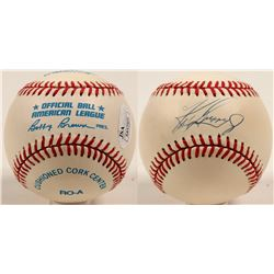 Ken Griffey Jr. autographed baseball with display stand  (100274)