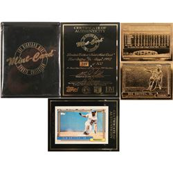 Ken Griffey Jr. Gold baseball card from Mint-Card  (100303)