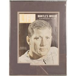 Life Magazine Signed Mickey Mantle inscription HOF 1974  (104551)