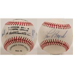 Lou Brock autographed baseball  (100270)