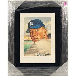 Mickey Mantle Autographed Lithograph  (100561)