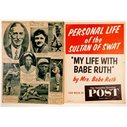 Original Broadside Poster Babe Ruth (2)  (104613)