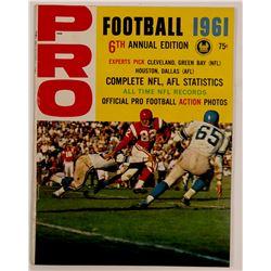 Pro Football 1961 Magazine  (103175)