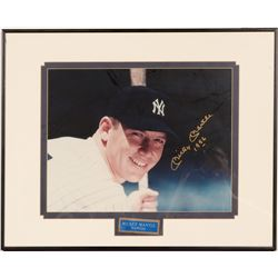 Signed 11 x 14 Mickey Mantle inscribed 1956  (104553)