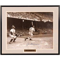 Signed 16 x 20 Joe DiMaggio  (104564)