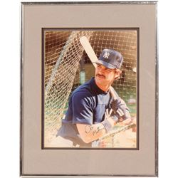 Signed 8 x 10 of Don Mattingly  (104544)