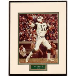 Signed 8 x 10 of Joe Namath  (104541)