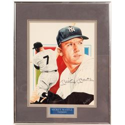 Signed 8 x 10 of Mickey Mantle   (104548)