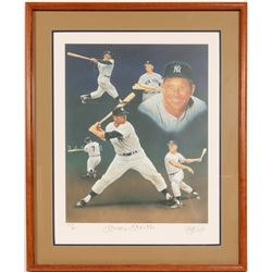 Signed Mickey Mantle Lithograph by Christoper Paulson  (104557)