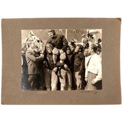 Vintage Football Mounted Photo  (101766)