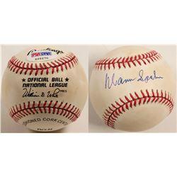 Warren Spahn autographed baseball  (100279)