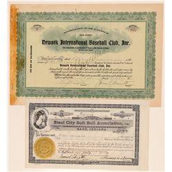 Working American Baseball and Softball Certificates  (101415)