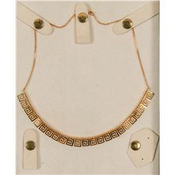 Gold Jewelry / Greek Key Choker   (102105)