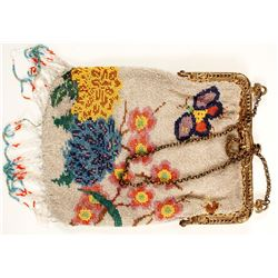 Antique Butterfly Beaded Purse  (89177)