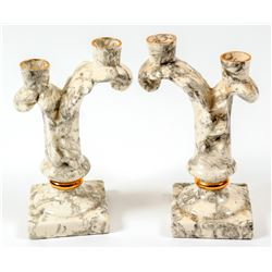 Candle Stick Holders / Matched pair  (100714)