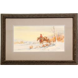 Pioneer with Horse Print by Lawshe  (87442)