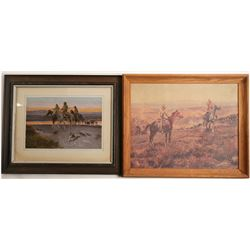 Prints by Charles Russell & Frederic Remington  (91188)