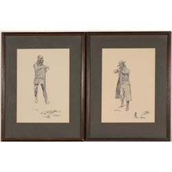Prints by Charles Russell (11, Framed)  (91187)
