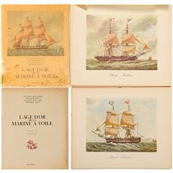 Large French Sailing Ship Illustration Book  (102644)