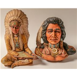 Indian Plaster Pair  (102747)