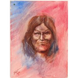 "Oil Painting /  Native American/ "" Geronimo"".  (102142)"