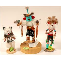 Kachinas (Set of 3) Signed by Artists  (102735)