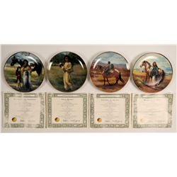 Decorative Plates of Native Americana Theme  (91186)