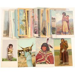 6 Misc tribes postcards  (100479)