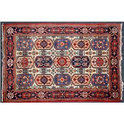 Antique Carpet / Possibly Herize Serapi Tribal Carpet  (102100)