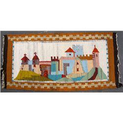 Rug, Decorative of European Village  (83512)