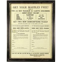 Marble Flyer / Telegram - Gazette Subscriptions.   (100708)