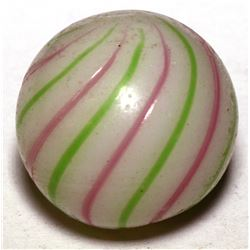 "Marble / "" Pink & Green"" Striped  Clambroth.  (100611)"