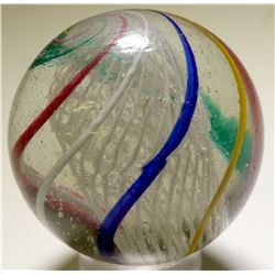 "Marble / Giant "" Latticino Core Swirl ""   (100668)"