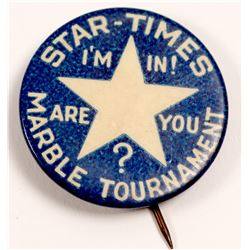 "Marble Pin  / From The "" Star Times""  (100703)"
