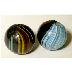 "Marbles  / "" Indian Swirls"". / 2 Items.  (100631)"